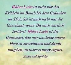 Liebe - liebeszitate - New Ideas One Word Quotes, Love Life Quotes, Some Quotes, Let's Talk About Love, German Quotes, I Love You, My Love, Love Hug, True Words