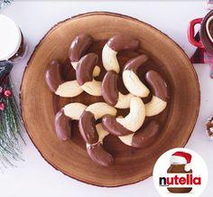 Vanilla Crescents with Nutella® hazelnut spread