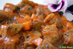COCINA ANDALUZA: Carne con Tomate Guisado, Slow Food, Barbacoa, Curry, Paleo, Food And Drink, Beef, Chicken, Cooking