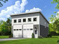 Modern 2-Car Garage Plan, 062G-0040