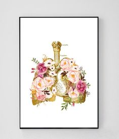 Botanical Illustration, Graphic Design Illustration, Doctors Office Decor, Human Anatomy Art, Medical Wallpaper, Dental Art, Doctor Gifts, Medical Art, Respiratory System