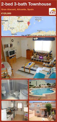 2-bed 3-bath Townhouse in Gran Alacant, Alicante, Spain ►€125,000 #PropertyForSaleInSpain