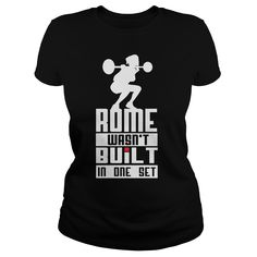 d1e47ff812 Rome wasnt built in one set Ladies white #fitness #LadiesTee #LadiesV-Neck