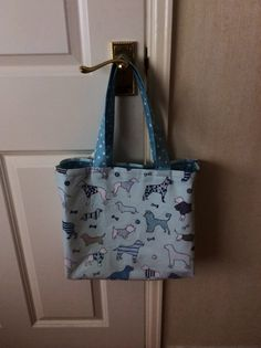 Fully lined tote bag