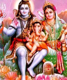 Shiva, Parvati & Baby Ganeshy