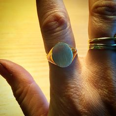 Gold costume made signet ring