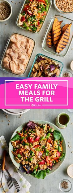 This meal plan of easy family meals on the grill is the ideal summer menu of weeknight dinners and meal prep lunches. This meal prep guide walks you through the breakfast, lunch and dinner you'll need to have the best week of meals ever. Meal Prep Plans, Meal Prep Guide, Cooking On The Grill, Easy Cooking, Healthy Recipes On A Budget, Healthy Food, Healthy Eating, Butter, Lunch Meal Prep