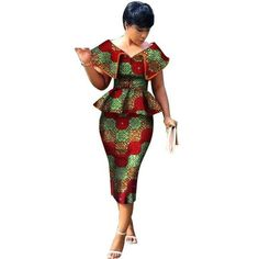 Dashiki African Print Dress Top and Straight Skirt Set For Women African Print Dresses, African Wear, African Prints, African Dress, Ankara Fashion, African Print Fashion, African Fashion Dresses, Fashion Outfits, African Traditional Wear