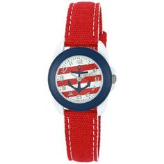 Natural Luxe - Sprout - red nautical anchor women's watch