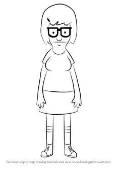 How to Draw Tina Belcher from Bob's Burgers - DrawingTutorials101.com
