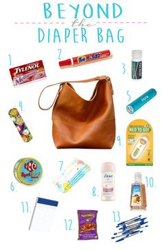 I Guess I'm Due: Beyond the Diaper Bag: Must have items in your purse for the Mommy on the Go!
