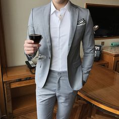 7779e65d0b 2018 Spring And Summer New Gentleman Suit Men s Business Casual Fashion  Temperament Youth British Style Professional