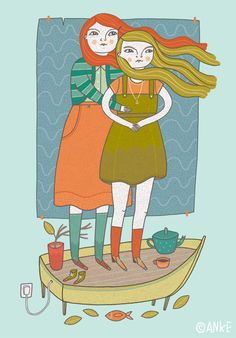 seagrass friends by Anke Weckmann Illustration / www.AnkeWeckmann.com