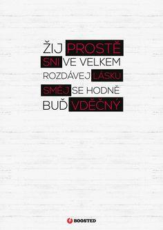 Motivační plakát Live simply (Česky)