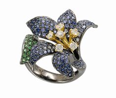 Colored Sapphire Lily Ring - GemTrends Inc. - Product Search - JCK Marketplace