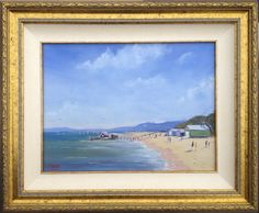 """Morning Walk Portsea Framed 12"""" x 16"""" ... one of my favourite views of Portsea beach. This was exhibited at the Bayside Art Show. Click to find out more about this painting"""