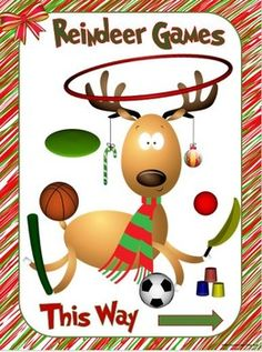 EVERYONE IS INVITED?This colorful Reindeer Games poster will bring Christmas or Winter excitement to your gym or classroom! The poster was created to be placed outside a gym or classroom, either on the entrance door or in the hallway adjacent to the door.