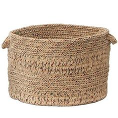 Indoor/Outdoor Braided Basket in Cuban Sand