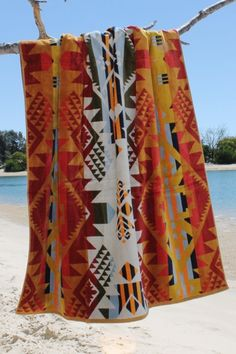 Shop this over sized PENDLETON Journey West Luxury Towel and other bohemian home wares in store at White Bohemian, Palm Beach, Gold Coast or online at www.whitebohemian.com.au