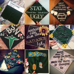 Creative grad caps from Binghamton University's #Classof2015