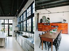 With high-ceiling apartments - light tracks in vintage industrial piping style, are a good fix:) Seen on LOVELY HOME IN PORTLAND | 79 Ideas