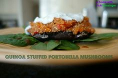 Quinoa Stuffed Portobella Mushrooms