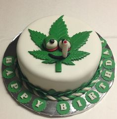 Cannabis Leaf Novelty Cake christmas decorations Pinterest
