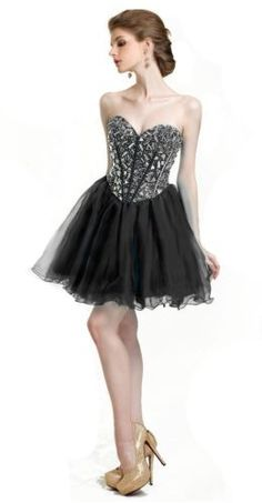 Faironly Stock Crystals Mini Cocktail Formal Prom Dresses Size 6 8 10 12 14 16