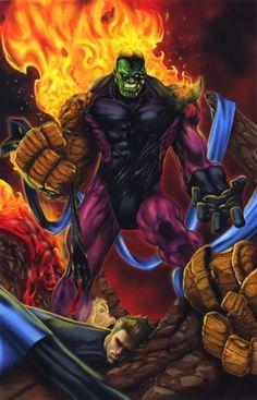 Super-Skrull of Marvel Comics. Marvel Villains, Marvel Comics Art, Marvel Vs, Marvel Heroes, Marvel Comic Character, Comic Book Characters, Marvel Characters, Comic Books Art, Comic Art