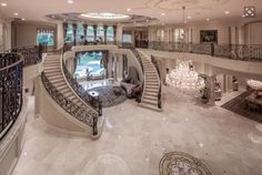 Homes Mansions: Mediterranean Mansion In Houston, TX - Luxury Homes Dream Home Design, My Dream Home, House Design, Dream Mansion, Mansion Houses, Luxury Homes Dream Houses, Luxury Homes Interior, Modern Mansion Interior, Luxury House Plans
