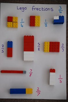 Teacher at Springhead Primary Lego Math in the classroom. Did you know that you can use Lego to teach Maths? Math Games, Preschool Activities, Fraction Activities, Counting Games, 3rd Grade Activities, Fraction Games, Education Quotes For Teachers, Kids Education, Health Education