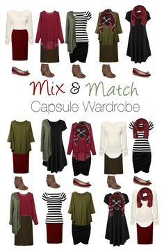 Capsule Wardrobe: Burgundy and Olive by mary-grace-see on Polyvore featuring moda, Dolce&Gabbana, WearAll, Journee Collection, Kate Spade, MANGO and plus size clothing