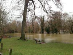 Flooded pells pond  #sussexflooding #lewes