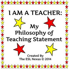 philosophy of teaching statement describe your values beliefs about education