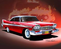 - My list of the best classic cars Stephen King Tattoos, American Dream Cars, Plymouth Fury, Arte Horror, Horror Art, Best Classic Cars, Us Cars, Race Cars, Car Drawings