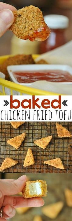 Baked Chicken Fried Tofu :: no sketchy nuggets here!