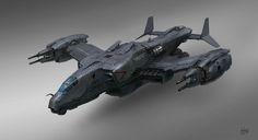 Attack aircraft, Alex Ichim on ArtStation at https://www.artstation.com/artwork/attack-aircraft