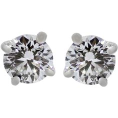 Preowned Tiffany & Co. 1.16 Carat Diamond Gold Stud Earrings ($9,995) ❤ liked on Polyvore featuring jewelry, earrings, studs, accessories, jewelry - earrings, multiple, diamond earring jewelry, diamond jewelry, diamond jewellery and gold jewellery