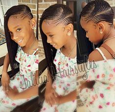 Top Creative Cornrow Hairstyles: The Best Ones Of 2018 You Should Try This Year Lil Girl Hairstyles, Black Kids Hairstyles, Kids Braided Hairstyles, African Braids Hairstyles, Teenage Hairstyles, Children Hairstyles, Creative Hairstyles, Little Girl Braids, Black Girl Braids