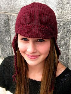 Ravelry: Knit Earflap Beanie with Brim pattern by Tian Connaughton knit, earflap hat, pattern