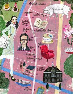 Map illustration. Olaf Hajek.