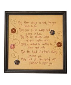This 'Work for Your Hands' Frame by Pearson's Simply Primitives is perfect! #zulilyfinds