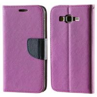 Kabura etui Fancy Series do Samsung Galaxy Grand Prime G530F fioletowo-granatowe