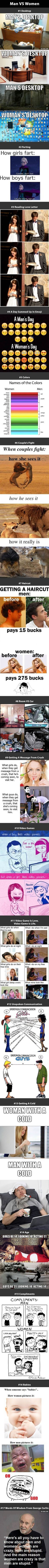 17 Differences Between Men And Women - 9GAG hahahhahahahhhahahahaha