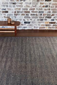 Herringbone Weave - Charcoal & Limestone | Armadillo & Co