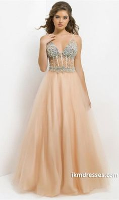 http://www.ikmdresses.com/2014-Sexy-Straps-Deep-V-Neck-Beaded-Bodice-With-Exposed-Boning-Dress-Tulle-p84352