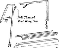 Felt Channel, Vent Post Seal, Bug Conv. '50-'79,Pr. Item Number: 151837433A Price: $85.50 This felt channel for the vent wing post fits convertable Bug's from ' 52 - ' 79. Replace it today and get your convertable Bug back on the road. #aircooled #combi  #1600cc #bug #kombilovers #kombi #vwbug #westfalia #VW #vwlove #vwporn #vwflat4 #vwtype2 #VWCAMPER #vwengine #vwlovers #volkswagen #type1 #type3 #slammed #safariwindow #bus #porsche #vwbug #type2 #23window #wheels #custom #vw #EISPARTS
