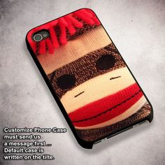 Sock Monkey Vintage Toy - For iPhone 4/ 4S/ 5/ 5S/ 5SE/ 5C/ 6/ 6S/ 6 PLUS/ 6S PLUS/ 7/ 7 PLUS Case And Samsung Galaxy Case
