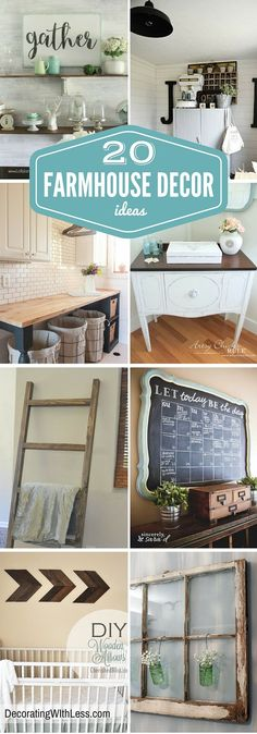 awesome 20 Farmhouse Decor Ideas for Your Home