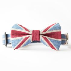 Union Jack Doggie Bow Tie. We need this for cuthbert!